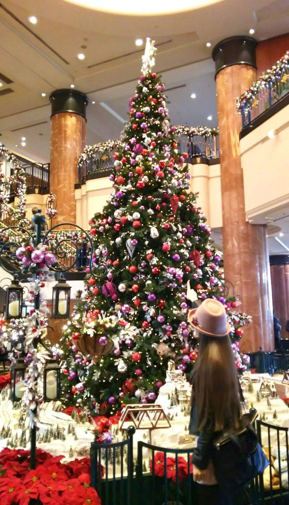 街中はクリスマスツリーやイルミネーションでキラキラしています。