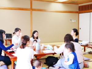 続いて開催した食育講座では、子供の免疫力を育てる賢いおやつとごはんについてお話しました。