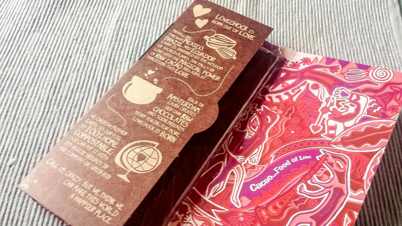 ヨーロッパのメッセージ入りオーガニックチョコレート