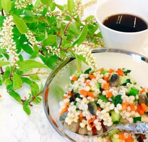 オガライフライターmichieさんのお料理「丸麦サラダ」