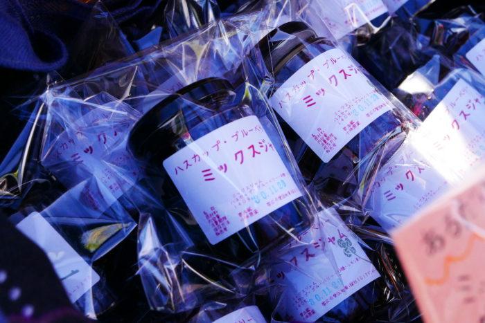 こちらもビオまるしぇならでは。北海道ならではの食材である行者にんにくやハスカップを利用した加工品です。