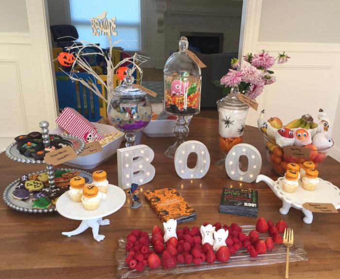 ハロウィンパーティー(友人宅)のデザートテーブル。ひとつひとつがとても可愛い!